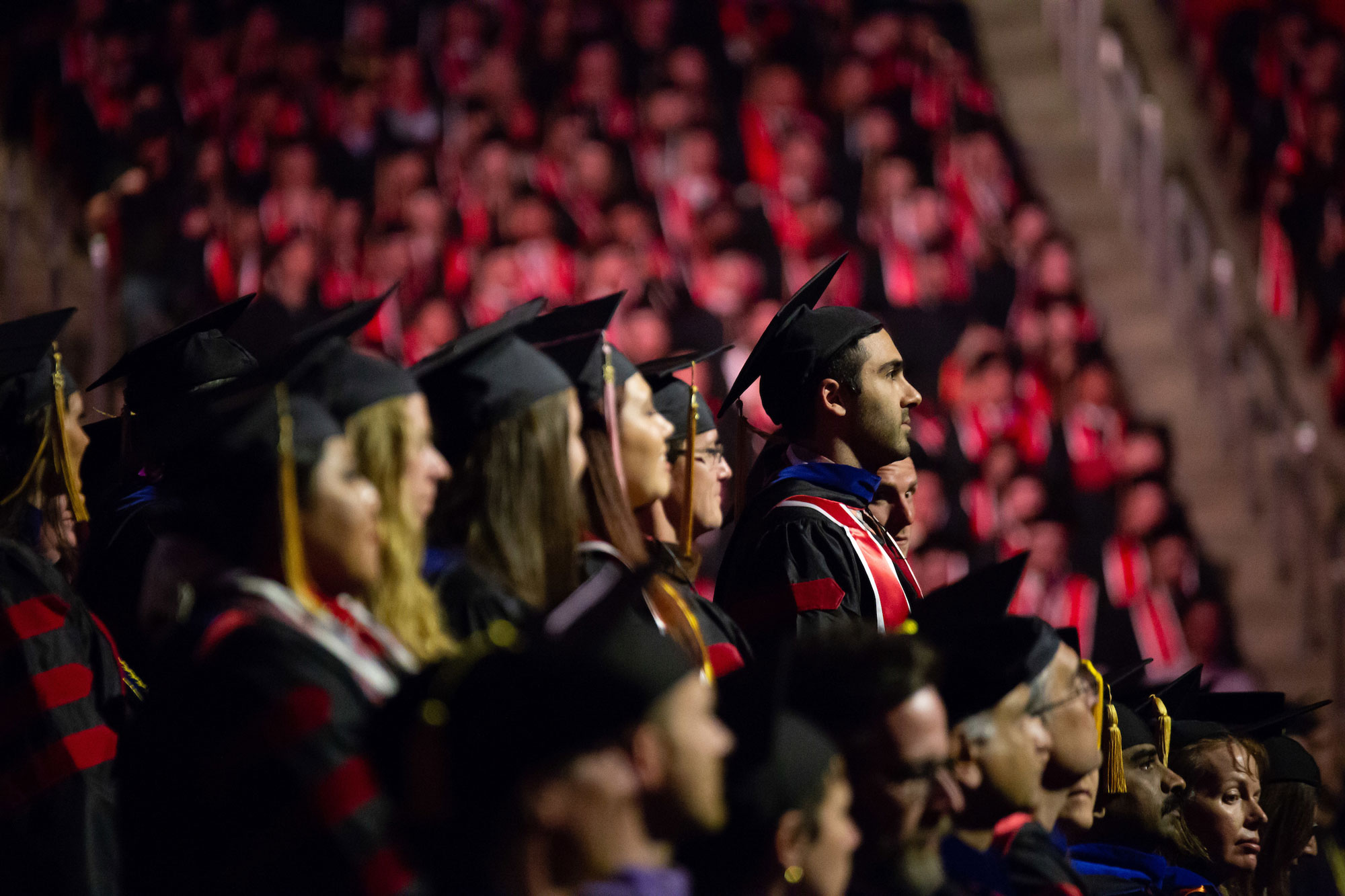Graduates in the 2018 Commencement Crowd