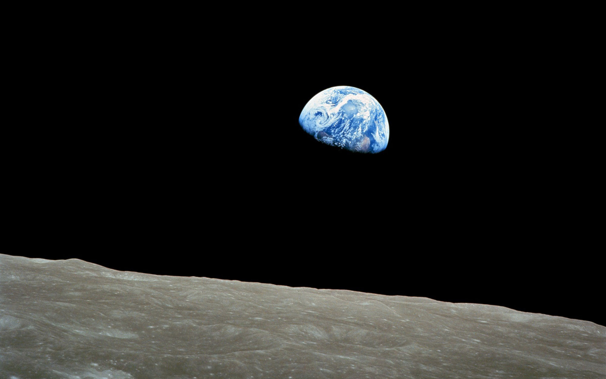 Earth as viewed from the moon